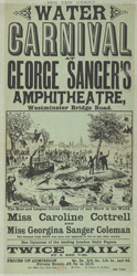 Advert for George Sanger's amphitheatre